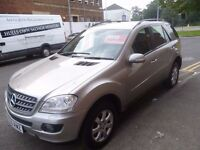 Mercedes Benz ML320 CDI SE Auto,Very clean tidy 5 door 4x4,FSH,full leather interior,all the extras