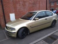 BMW 316ti 1.8model 12 months MOT rare colour (goldy green with black trim)Alot Of Car For The Money.