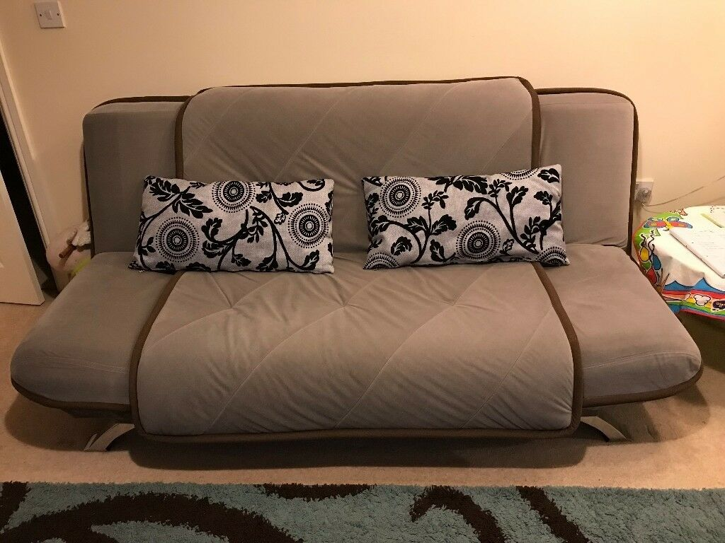 Double Sofa Bed With Free Cushions In Sutton Coldfield