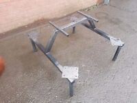 Pub style outdoor picnic/patio table frame