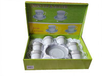 high-class Coffee Cup Saucer Gift Set, 12 Pcs- New & Sealed