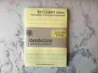 Brand New Dandelion Stationery Yellow Jotter Pad