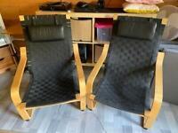 2 black poang Ikea chairs