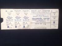 QPR 1962 Ticket - White City Stadium - v Colchester