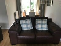 Leather sofa - 3 seater and 2 seater