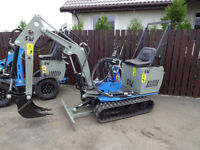 Mini digger, excavator new, manufacturer's warranty 12m