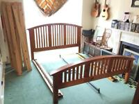Emperor King size solid reclaimed oak bed VERY LARGE