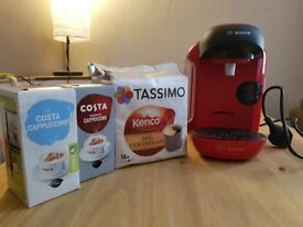 Red Tassimo Coffee Maker