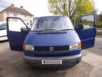 T4 with T5 removable seats in the back. Side windows. 10 month MOT. Reliable but with body advisory.