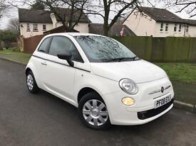 Fiat 500 1.2 pop 3dr white 2008 low genuine mileage only 27k FSH AND LONG MOT