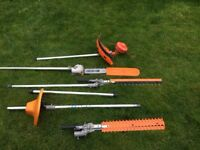 A collection of Eckman garden tool attachments as new.