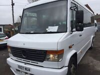 Mercedes vario minibus 2007 4.2 diesel blue tech 4 813 d 12 months mot drives great £9000 plus vat