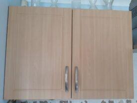 Beech Effect Kitchen Unit Doors