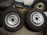 pair of brand new mercedes sprinter steel wheels with brand new 235 65 16 continental tyres £90 each