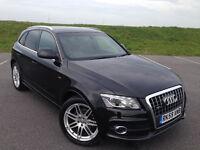 STUNNING AUDI Q5 S LINE TDI QUATTRO AUTOMATIC VERY LOW MILEAGE FULL BLACK LEATHER GREAT CAR!