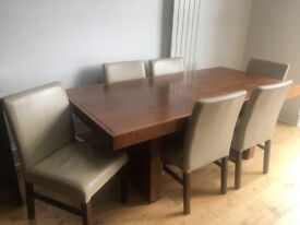 Large Dining Table and Chairs.
