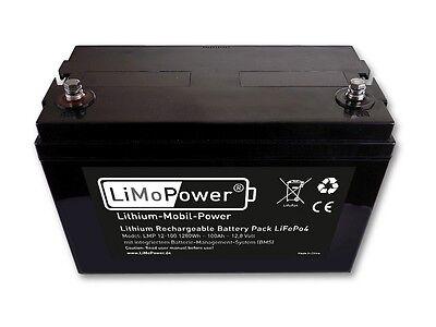 LiMoPower® Lithium Akku Typ LMP 12-100 - 1280Wh - 12,8V / 100Ah - Wohnmobil-Boot