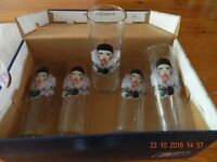 5 Hi-ball glasses with picture on