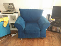 comfy blue chair for sale