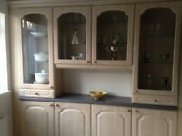 Kitchen for sale, wall, base & display units, worktops,hob ,oven,tumble drier,sink & tap & lights