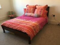 Double bed practically new
