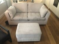 sofa bed & ottoman was £1800 now £200 Willow & Hall
