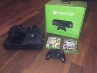 Xbox 1 console with controller and games