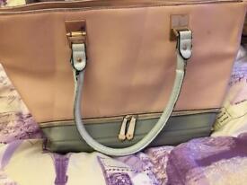 Pink large handbag