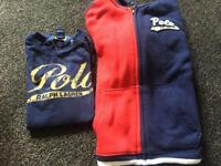 Ralph Lauren Polo hoodie and shirt, size 5 years
