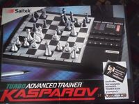 1x Electronic Game Chess Board,Instructions.SAITEK KASPAROV TURBO ADVANCED TRAINER CHESS COMPUTER
