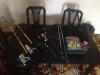 Fish rods 4x plus accessories