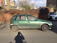 Vauxhall corsa club 16V for sale, MOT, sunroof, drives well cheap.