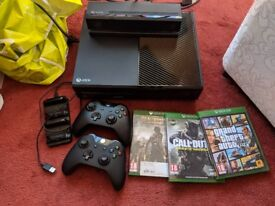 Xbox one 1tb with Kinect and games