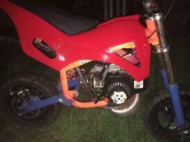 50cc mini dirtbike perfect condition £80ovno