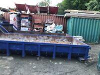 For sale 2 x 15yrd hook skip bins