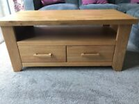 Stunning Solid Oak Coffee Table/TV Unit from George St Furnishers