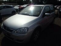 Vauxhall Corsa C Z157 Z14XEP 56 plate 48000 miles breaking for spares.
