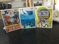 3 Wii games for sale