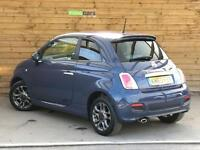 Fiat 500 0.9 TwinAir S 3dr LOVELY LOW MILEAGE (footloose blue) 2013