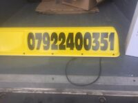 Taxi roof box, meter & fire extinguisher