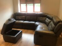 Harvey's Leather/Fabric reclining sofas/couch/chair/pouffe. Brand new with tags.