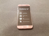 SAMSUNG GALAXY S7 32GB ROSE GOLD SIMFREE COMES WITH CHARGER AND THREE MONTHS WARRANTY**FRE DELIVERY*