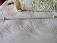 White metal hanging rail, (with fittings)
