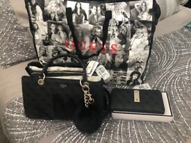 Guess bag and matching purse