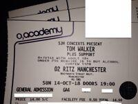 TOM WALKER~STANDING TICKETS~~MANCHESTER~RITZ~100% TRUSTED SELLER