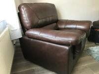 Super leather quality all round armchair.