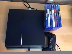 playstation 4 (ps4) console 1tb & 7 games , as new , all boxed ! price stands , no offers !!