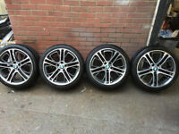 """Genuine BMW X3 X4 F25 F26 also fit F07,F01 with spacers 20"""" Alloy Wheels Style 310 M Performance"""