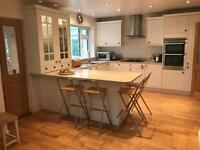 White shaker style kitchen for sale