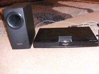 PANASONIC HOME THEATRE SURROUND SOUND SYSTEM MODEL NO SA-PT480 WITH REMOTE 5 in 1 AND IS 1000 WATS